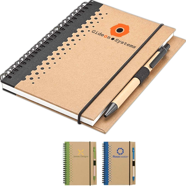 Eco-lifestyle (tm) - Junior Notebook And Pen, Made From Recycled Material Photo