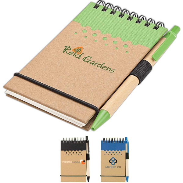 Eco-lifestyle (tm) - Miniature Jotter And Pen, Made From Recycled Material Photo