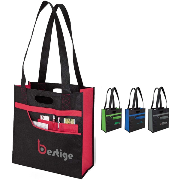 Organizer Tote Bag With Reinforced Contrast Stitching Photo