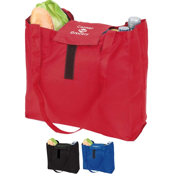 Eco-lifestyle (tm) - Folding Grocery Tote Bag With Carabiner Photo
