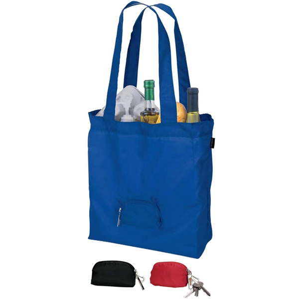 "Eco-lifestyle (tm) - Foldable Tote Bag With 26"" Handles And Lobster Clip Photo"