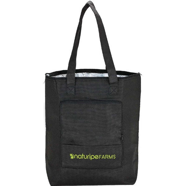 Eco-lifestyle (tm) - Foldable Foil Insulated Tote Bag With Zippered Closure Photo