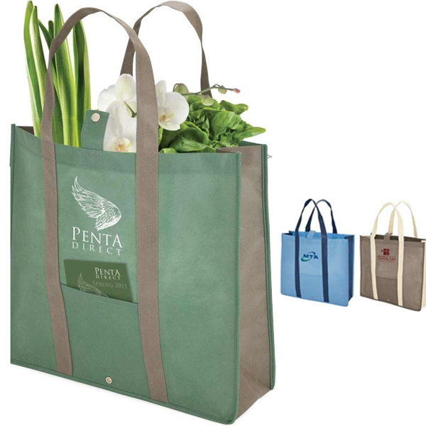 "Eco-lifestyle (tm) - Shopper Tote Folds Down To Convenient 8 1/2"" X 7 1/2"" Size With Snap Closure Photo"