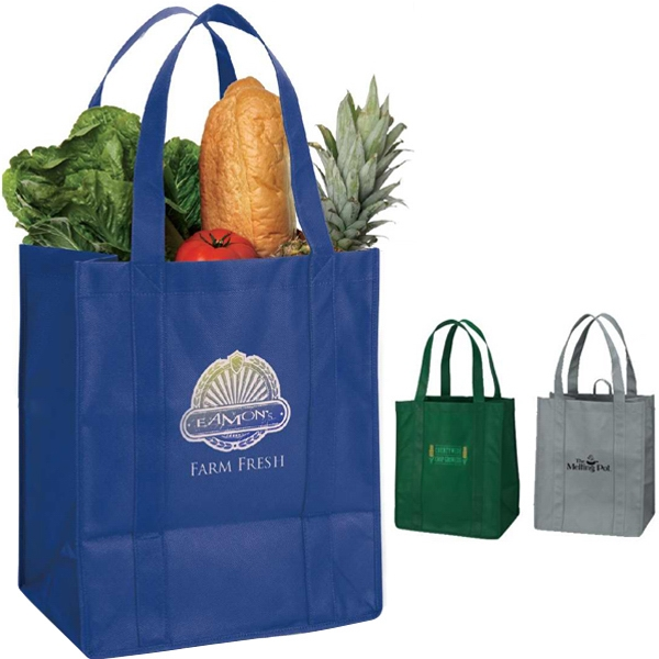 "Eco-lifestyle (tm) - Tote Bag With 20"" Handles, Extra-wide 8"" Gusset And Small Hanging Loop Photo"