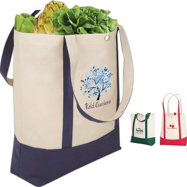 "Eco-lifestyle (tm) - Economy Tote Bag With 22"" Handles And Snap Closure Photo"