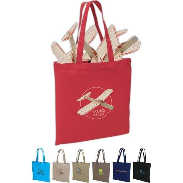 "Eco-lifestyle (tm) - Colored Cotton Tote Bag With 22"" Handles And Hook & Loop Closure Photo"