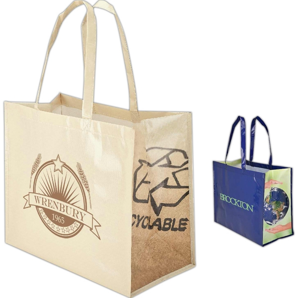 Reusable Extra Wide Shopper Tote Bag Photo