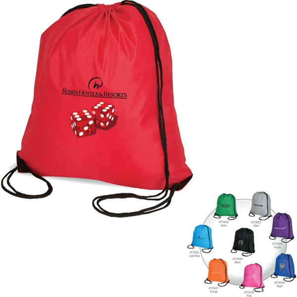 Sport Tote Bag With Drawstring Closure, Backpack Straps And Reinforced Corners Photo