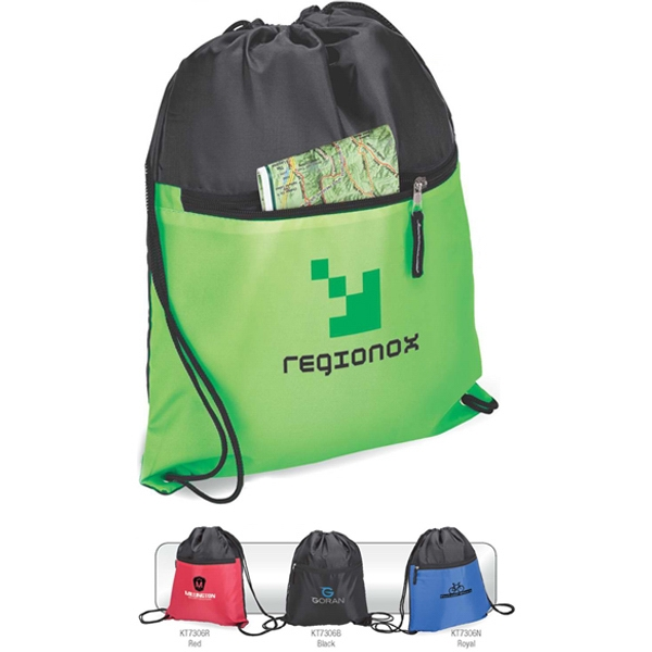 Drawstring Sport Bag With Pocket Photo