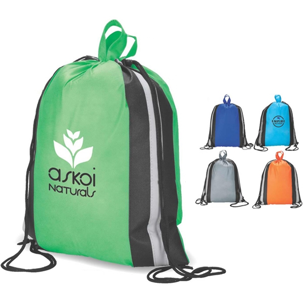Eco-lifestyle (tm) - Recyclable Drawstring Shopper/sport Bag Made From Non-woven Material Photo