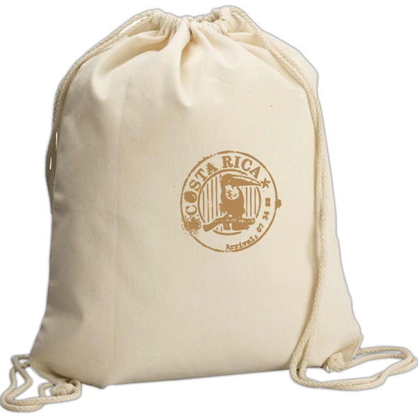 Eco-lifestyle (tm) - Natural Sport Bag With Cotton Rope Drawstring Closure Photo