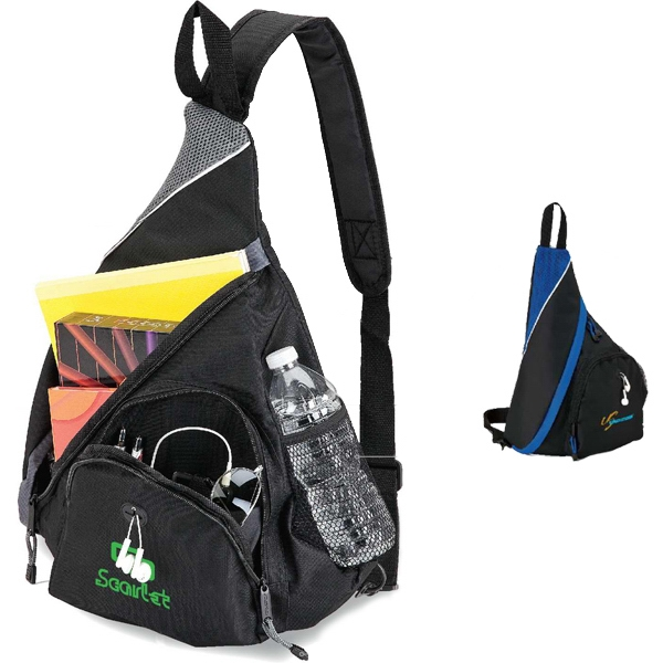 Sling Bag With Single Adjustable Strap And Top Handle Photo