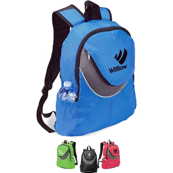 Outside Mesh Pocket Backpack With Padded Back Photo