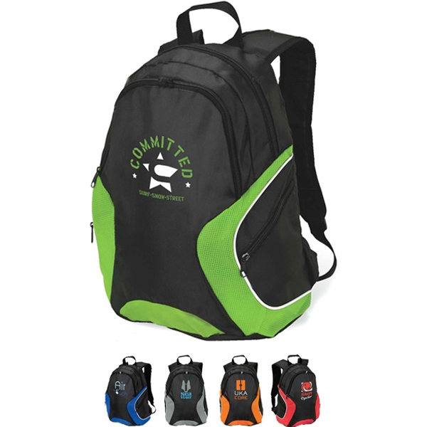 Lightweight Backpack With Zippered Front Pocket Photo