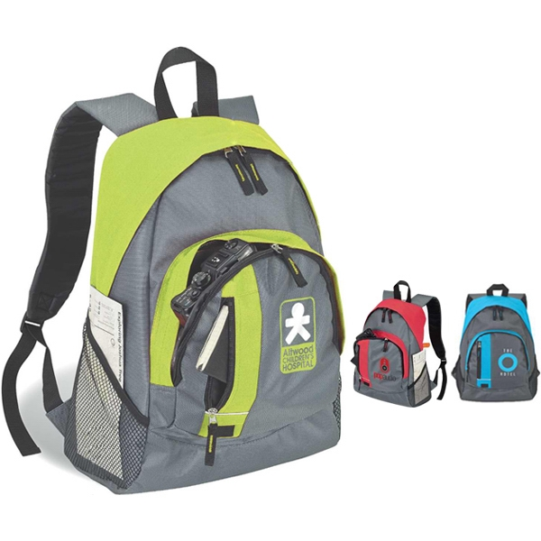 Contrast Color Backpack With Carry Handle Photo