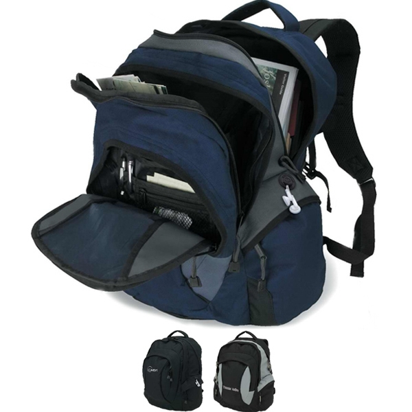 Backpack With Large Zippered Front Compartment And Padded Carry Handle Photo