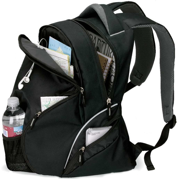 Travel Backpack With Mesh Front Pocket And Padded Back Photo