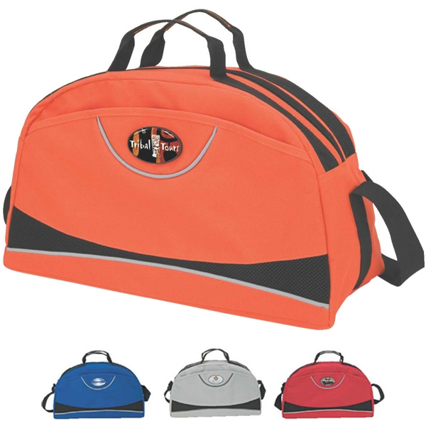 Duffel Bag With Velcro Side Pocket And Handles Photo