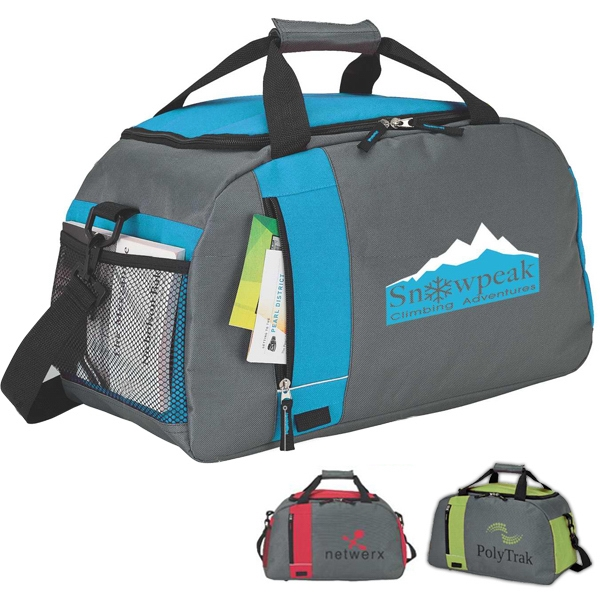 All Purpose Duffel Bag With Front Zippered Pocket Photo