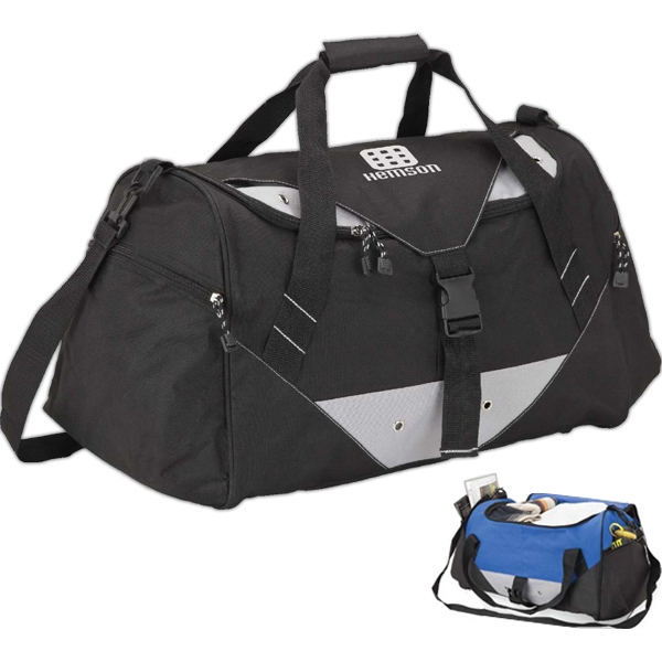 "Large Sports Duffel Bag, 18"" X 10 1/2"" X 10"" Photo"