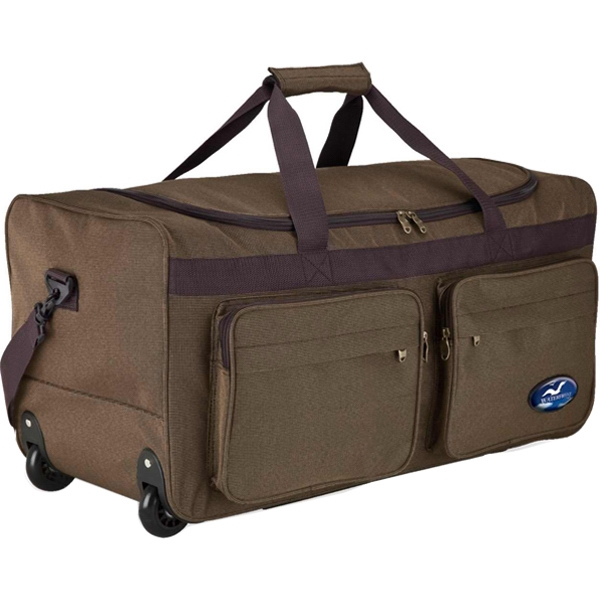 Rolling travel duffel bag