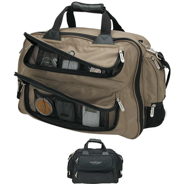 Duffel Bag With Trolley Strap, Padded Handles And Shoulder Strap Photo