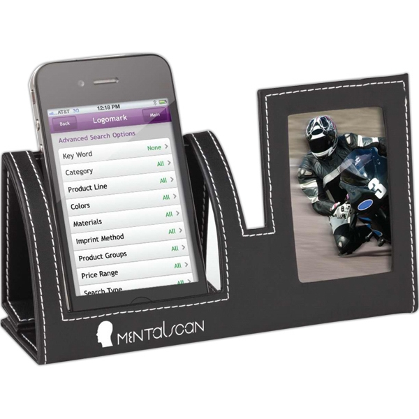 Mobile phone holder with photo frame