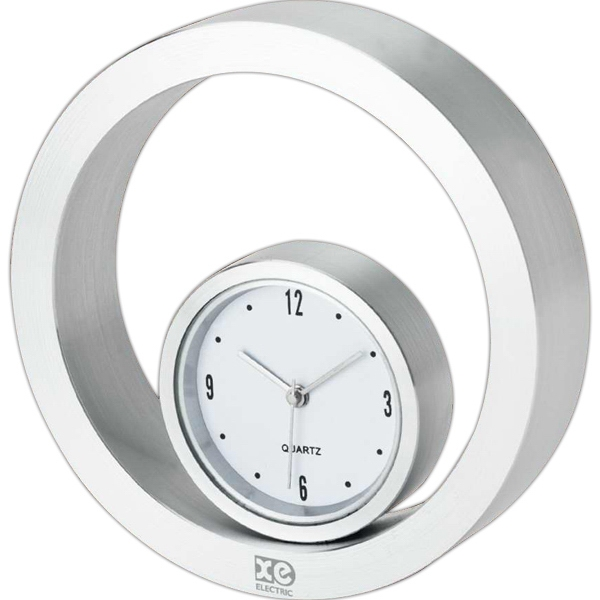 Rolling Metal Desk Clock Photo