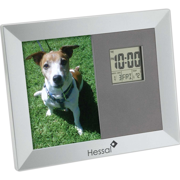 Photo Frame, Calendar, Thermometer And Clock Photo