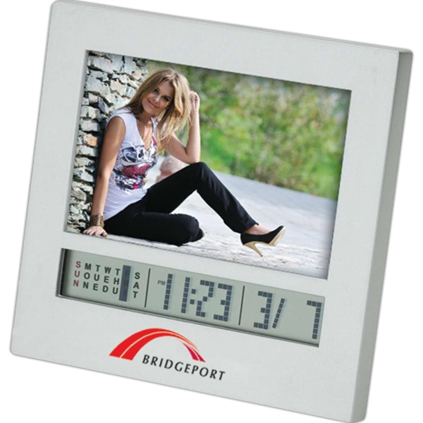 Photo Frame, Calendar And Mini Digital Clock Combo Photo