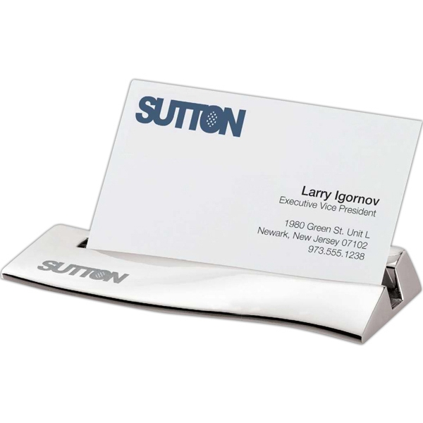 Waved- Shape Business Card Holder Photo