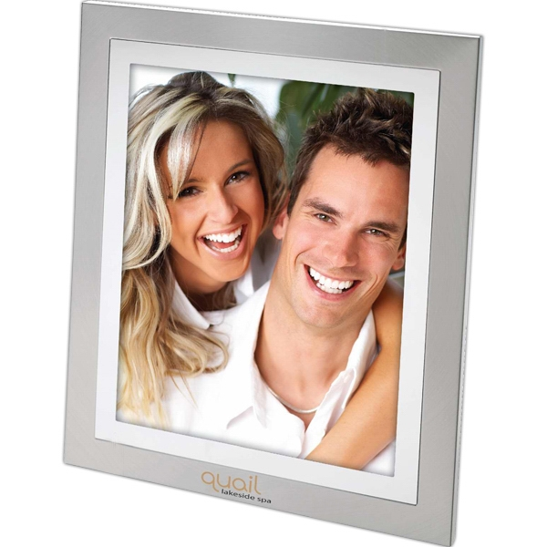 "Two Tone Aluminum Finish 8"" X 10"" Photo Frame Photo"