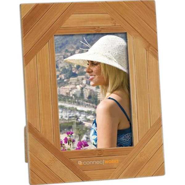 "Eco-lifestyle (tm) - Stripe Design Bamboo 4"" X 6"" Photo Frame Photo"