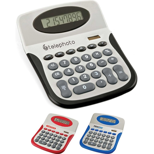 Eco-lifestyle (tm) - Desktop Calculator With Colorful Wave Trim, Abs Body And Keys Photo