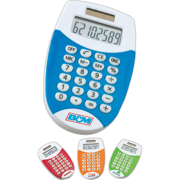 Eco-lifestyle (tm) - Dual Power Colorful Pocket Calculator Photo
