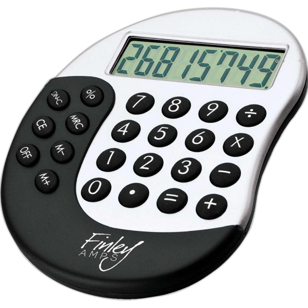 Calculator With Rubber Touch Keys, Ergonomic Design And Abs Case Photo
