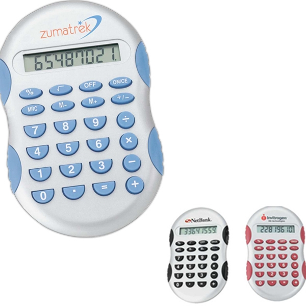 Calculator With Rubber Touch Keys And Rubber Grip Accents Photo