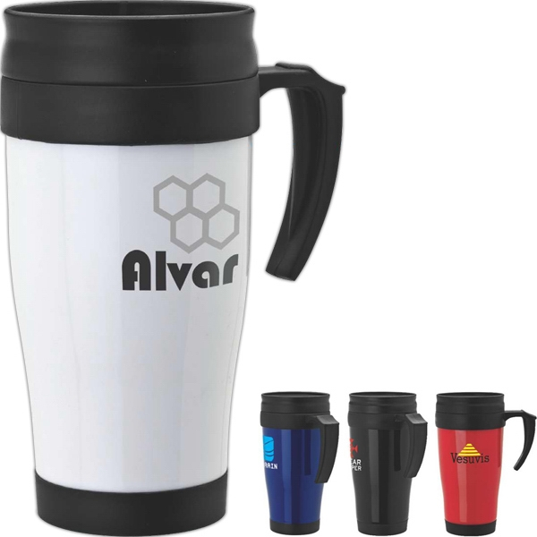 16 Oz Double Wall Pp Mug With Slider Lid Photo