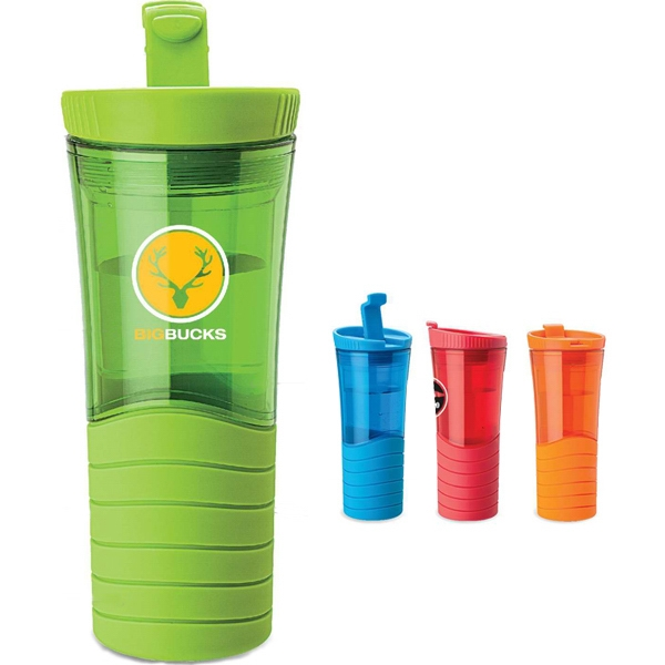 16 Oz Double Wall Tumbler With Wave Design Photo