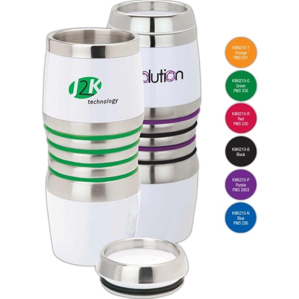 Acrylic/stainless Steel Tumbler With Silicone Color Bands Photo
