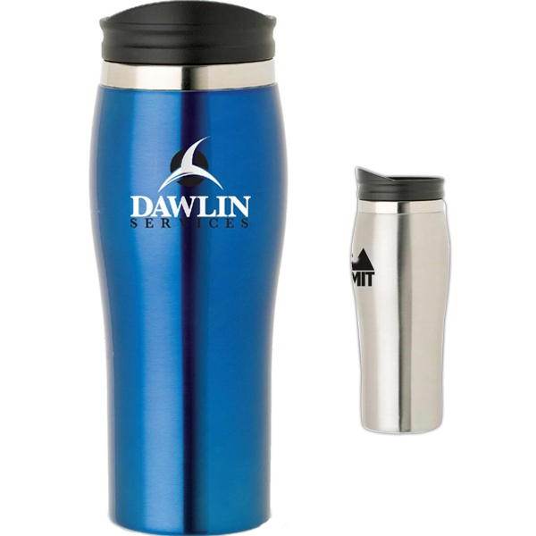 Curved Contour Stainless Steel Tumbler, 16 Oz Photo
