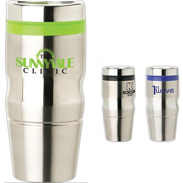 14 Oz Stainless Steel Tumbler With Plastic Liner Photo