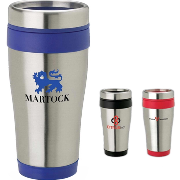 14 Oz Stainless Steel Tumbler With Steel Rimmed Lid Photo