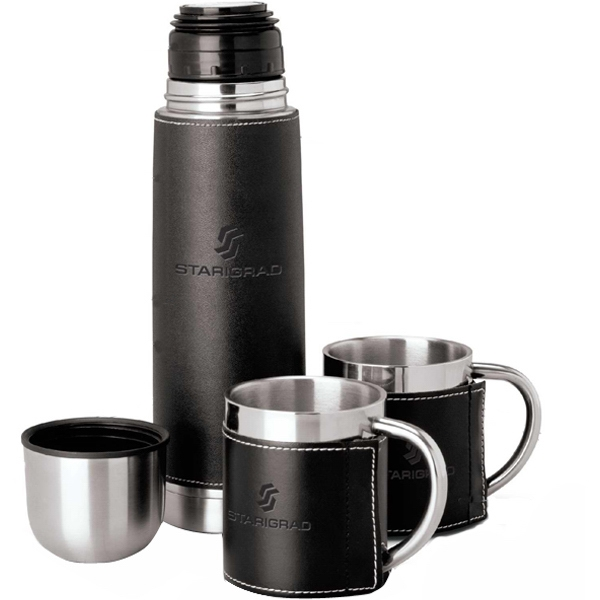 Steel Flask And Cup Set With Removable Sleeve Photo