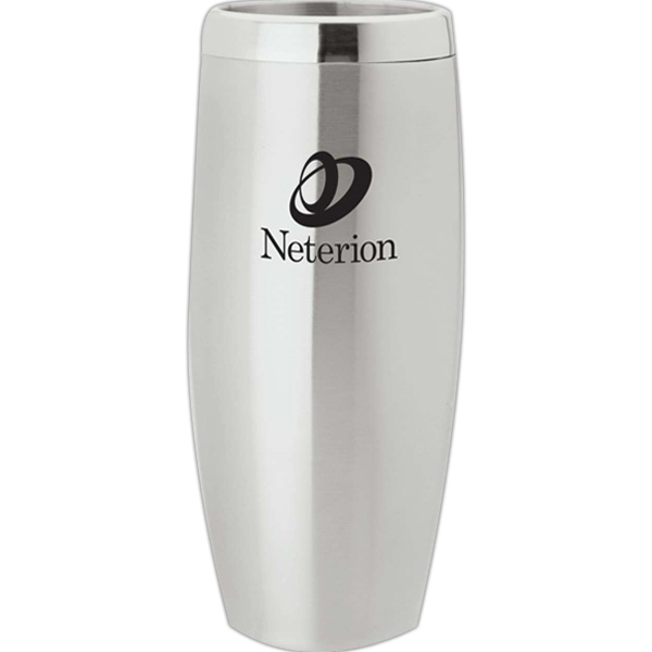 Double Walled Stainless Steel Tumbler With Rotating Slide Closure Photo