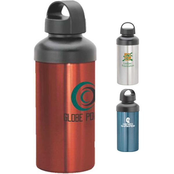 Aluminum Wide Body Water Bottle With Screw Off Cap Photo