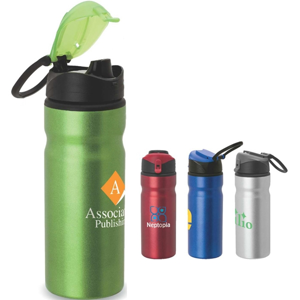 Aluminum Water Bottle With Carry Loop Photo