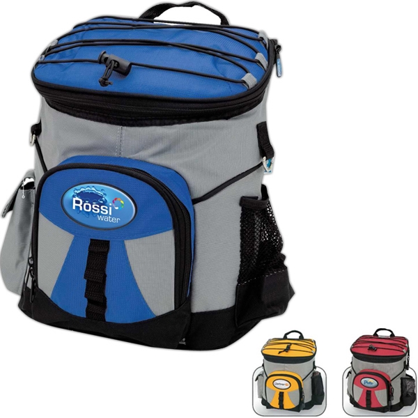 Backpack Cooler With Carry Handle, Shoulder Straps And Elastic Cord Storage Photo