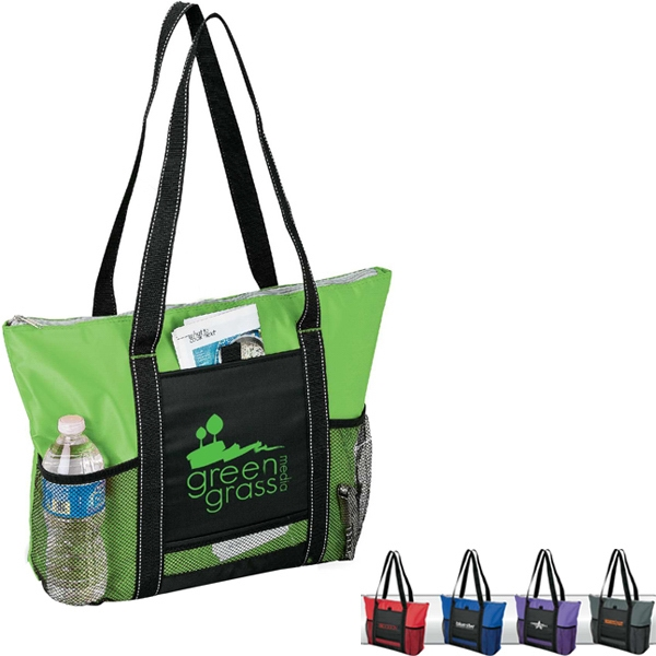 Cooler Tote With Zippered Main Compartment Photo