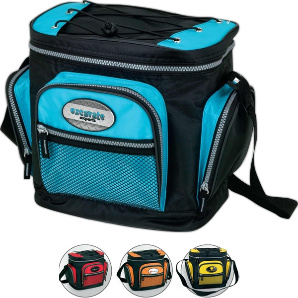 Tec - Cooler Bag With Webbed Zip Pocket And Elastic Cord Storage On Top Photo